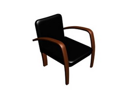 Leather conference chair 3d model