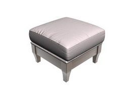 Ottoman stool for living room 3d model
