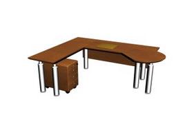 Office Work Station Staff Desk 3d model