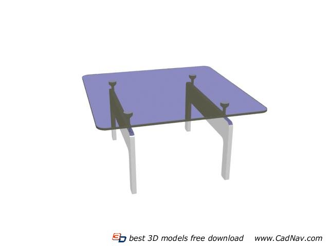 Metal frame glass dining table 3d model 3DMax files free  : 1 130PQ54QW58 from www.cadnav.com size 640 x 480 jpeg 15kB