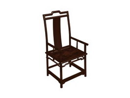 Chinese antique wooden chair 3d model