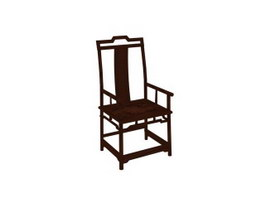Chinese Antique Backrest Chair 3d model