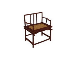 Chinese antique rosewood chair 3d model