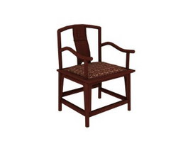 Chinese style dining chair 3d model