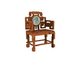 Antique hand carved palace chair 3d model