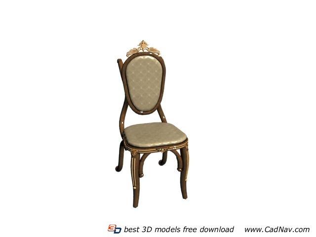 Classic European dining chair 3d model 3DMax files free  : 1 130Q0143959125 from www.cadnav.com size 640 x 480 jpeg 18kB