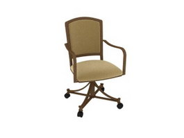Fabric office swivel chair 3d model