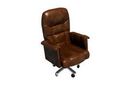 Office leather executive boss chair 3d model