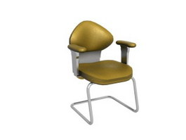 Office cantilever visitors chair 3d model