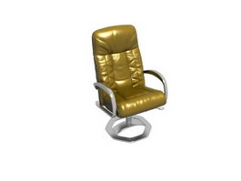 High back swivel boss chair 3d model