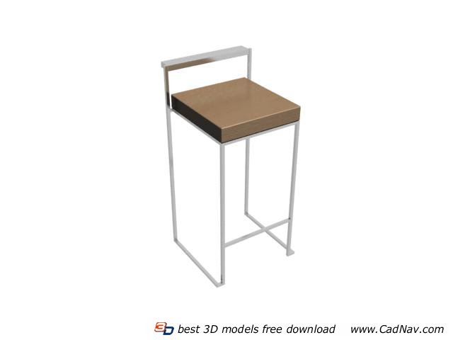 Modern kitchen bar stools 3d model 3dmax files free for Food bar 3d model