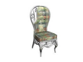 Wedding king queen chair 3d model