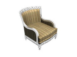 European style antique sofa 3d model