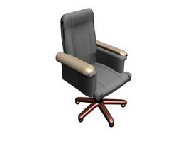 High back swivel office chair 3d model