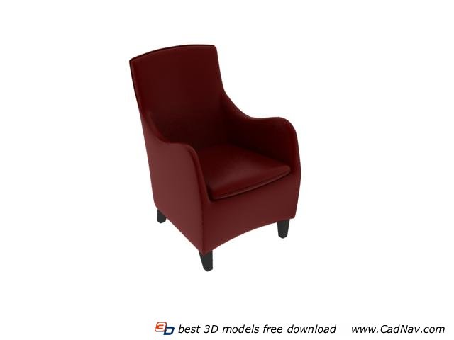 leather sofa single chair free 3d models require vray rendering engine