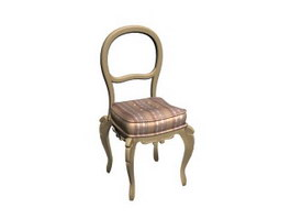 European wooden dining chair 3d preview