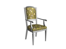 Straight back dining chair 3d model