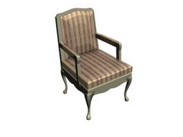 Antique arm chair fauteuil 3d model