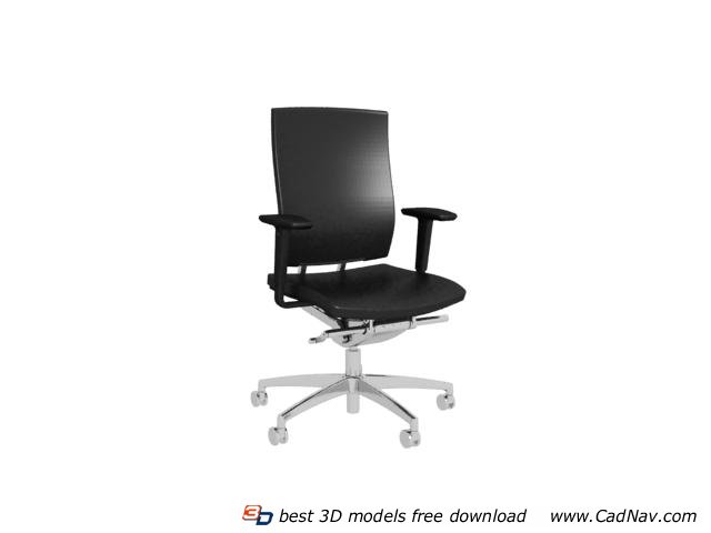 Modern Office Leather Swivel Chair 3d Model 3dmax Files