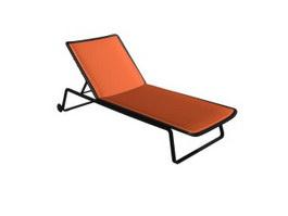 Folding beach lounge chair 3d model