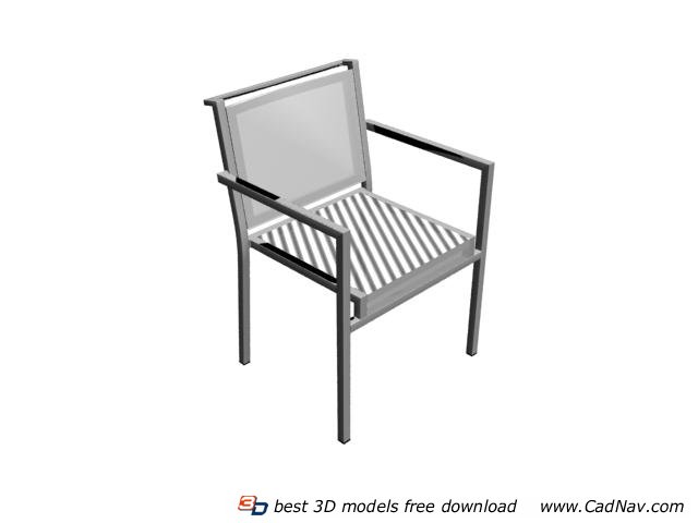 garden outdoor chair 3d model - Garden Furniture 3d Model