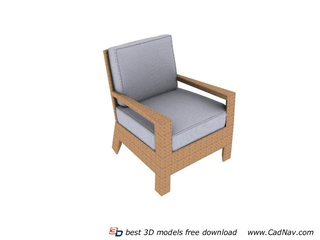 Living Room Single Seater Sofa Chair 3d Model 3dmax Files