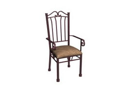 Antique wrought iron chair 3d model