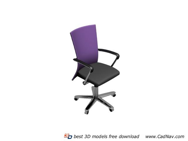 Office chair furniture 3d model 3dmax files free download for 3d furniture design software free