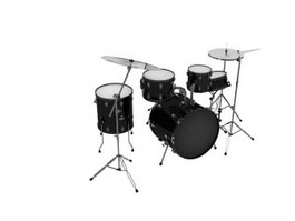 Jazz drum set 3d model