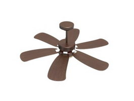 Electric ceiling fan 3d model