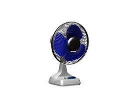 Colorful electric table fan 3d model
