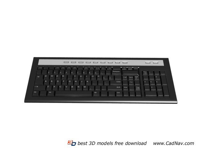 Silicone keyboard 3d rendering