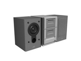 Stage Speaker Sound Box 3d model