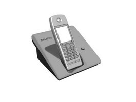 Siemens Cordless Phone 3d model