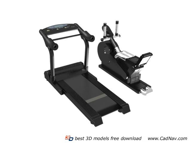 Running Machine And Treadmill 3d Model 3dmax Files Free