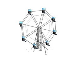 Amusement equipment ferris wheel 3d model