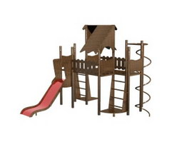 Children playground equipment 3d model