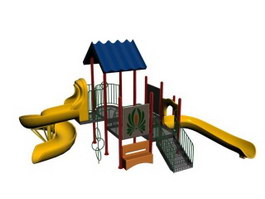 Outdoor Playground Equipment 3d model
