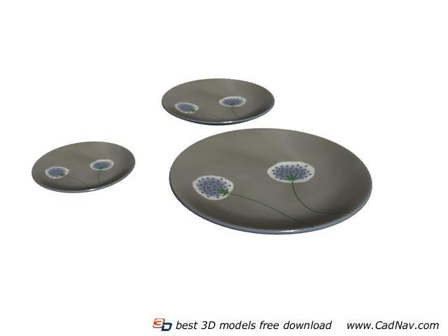Stoneware dinner plate 3d model