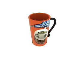 Ceramic Cartoon Drinking Cup 3d model