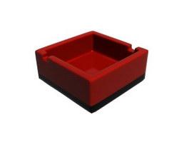 Square plastic melamine ashtray 3d model