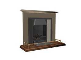 Ethanol Fireplace 3d model