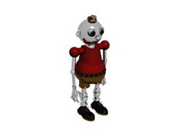 Plastic model toy robot 3d model