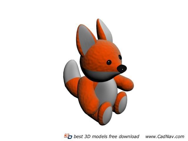 Stuffed Animal Plush Fox Toy 3d Model 3dmax Files Free