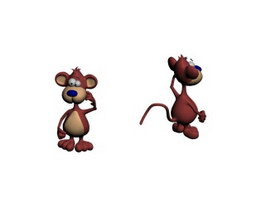 Stuffed Toy Cartoon Mouse 3d model