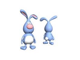 Fashion plush toy rabbit 3d model