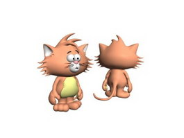 Animal toys cartoon cat 3d model
