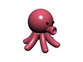 Cartoon soft toy octopus 3d model