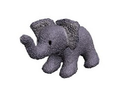 Soft toy stuffeed elephant 3d preview