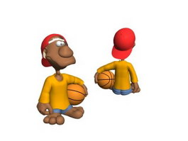 Basketball Boy Action Figure 3d model